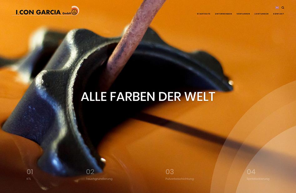 Startseite der I. CON GARCIA Website