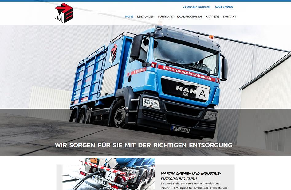 Startseite der Martin Entsorgung Website
