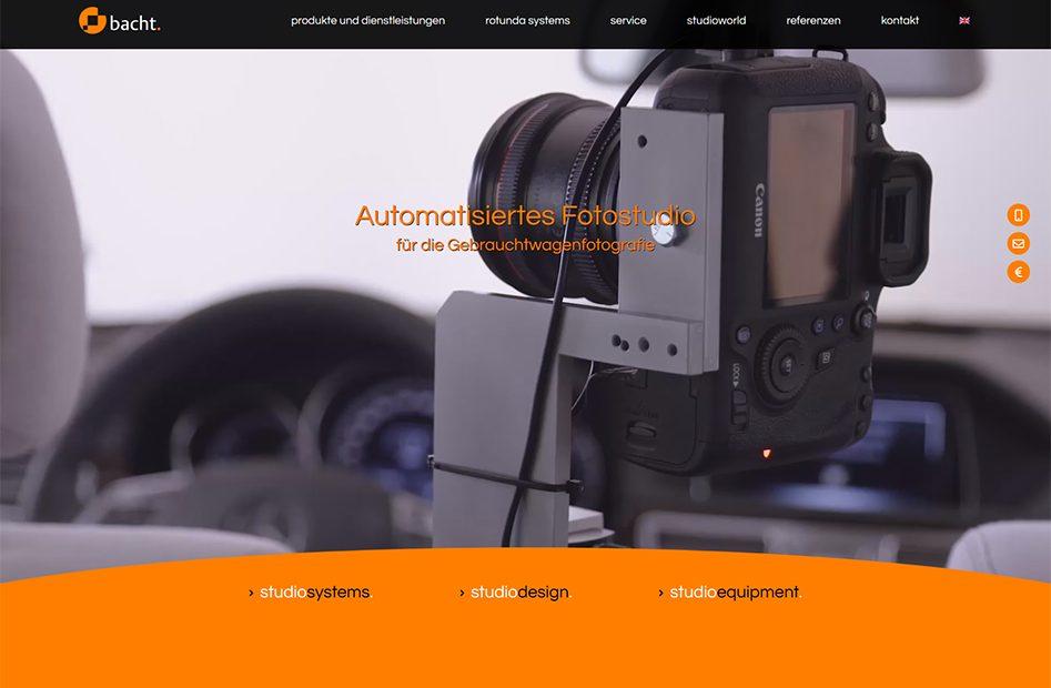 Startseite der bacht Website
