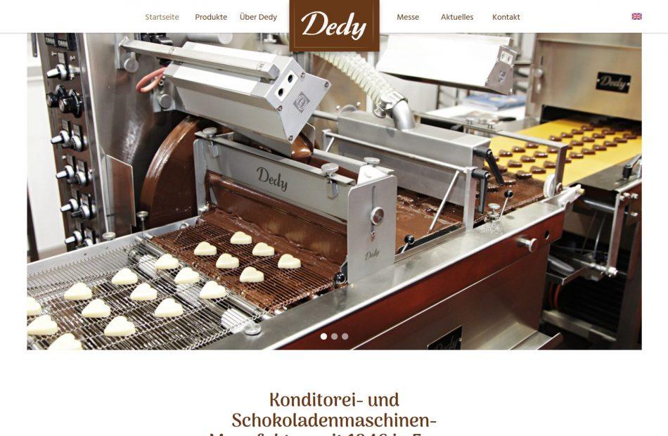 Dedy - Konditorei und Schokoladenmaschinen-Manufaktur seit 1946 in Essen