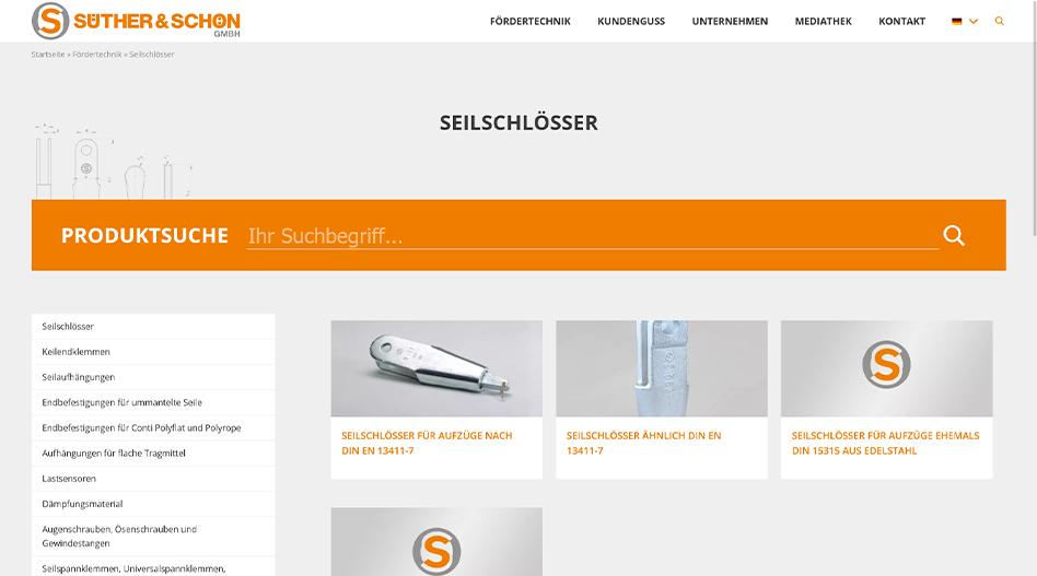 Süther Schön Fördertechnik Produktübersicht